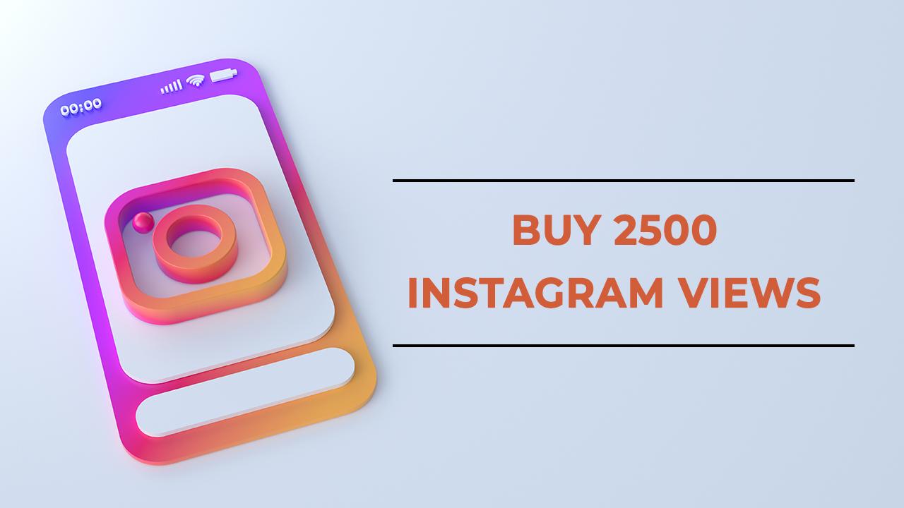 Buy 2500 Instagram Views